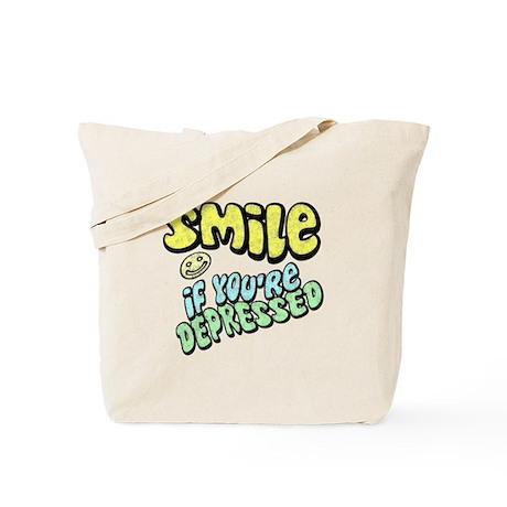 SMILE If you're Depressed Tote Bag
