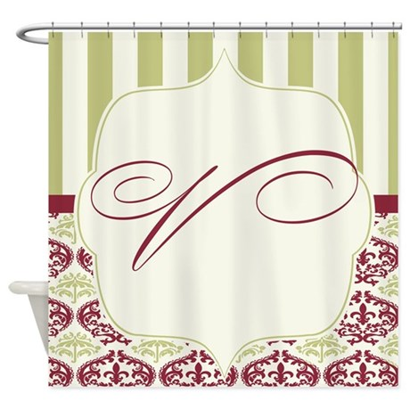 Fall Color Damask Wedding V Shower Curtain By
