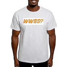 "Gold ""WWBD?"" T-Shirt"
