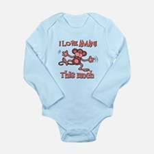 I love Amani this much Long Sleeve Infant Bodysuit