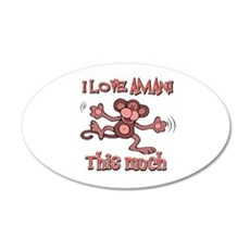 I love Amani this much 35x21 Oval Wall Decal