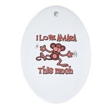 I love Amara this much Ornament (Oval)