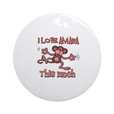 I love Amara this much Ornament (Round)