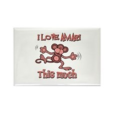 I love Amari this much Rectangle Magnet