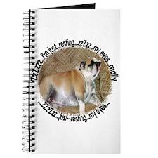 Just Resting My Eyes Bulldog Journal