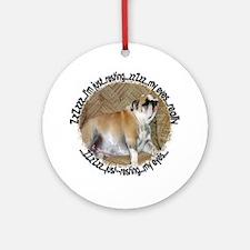 Just Resting My Eyes Bulldog Ornament (Round)