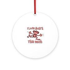 I love Amaya this much Ornament (Round)