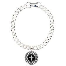 retired religious argyle 4 grey Bracelet