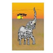 Trumpeting Elephant Postcards (Package of 8)