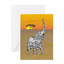 Trumpeting Elephant Greeting Card