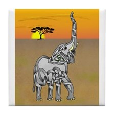 Trumpeting Elephant Tile Coaster