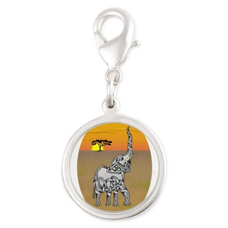 Trumpeting Elephant Charms