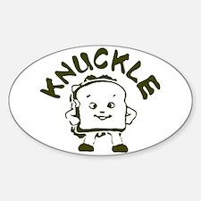 Knuckle Sandwich! Oval Decal