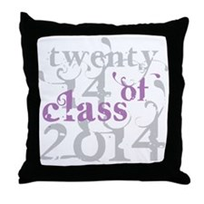 Swirly Class of 2014 Throw Pillow