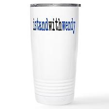 I Stand With Wendy typewriter Travel Mug