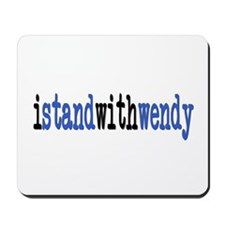 I Stand With Wendy typewriter Mousepad