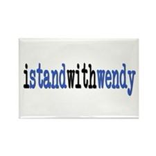 I Stand With Wendy typewriter Rectangle Magnet