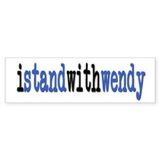 I Stand With Wendy typewriter Bumper Sticker