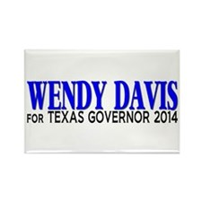 Wendy Davis for Texas Governor 2014 Rectangle Magn