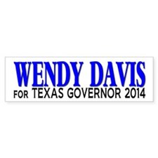 Wendy Davis for Texas Governor 2014 Bumper Sticker
