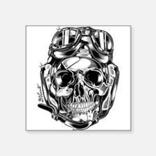 Aviator Skull Sticker