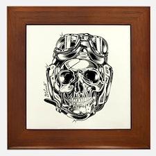 Aviator Skull Framed Tile