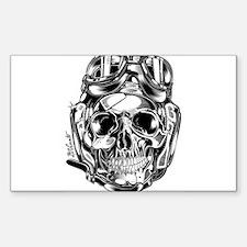 Aviator Skull Decal