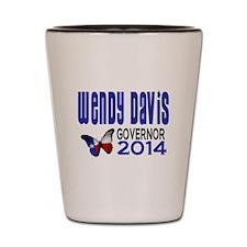 Wendy Davis for Texas Governor 2014 Shot Glass