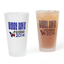 Wendy Davis for Texas Governor 2014 Drinking Glass