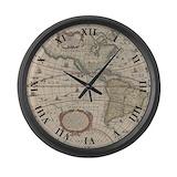 Vintage map Giant Clocks