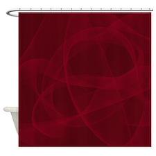 Burgundy Fractal Shower Curtain