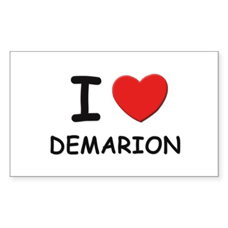 I love Demarion Rectangle Sticker