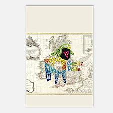 Tie-dye Lamb Postcards (Package of 8)