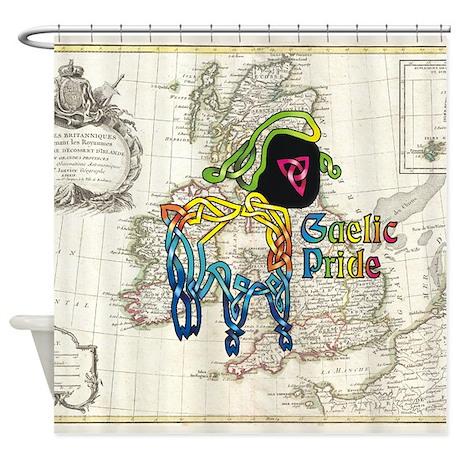 Tie-dye Lamb Shower Curtain