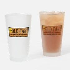 Old Fart Motto Drinking Glass