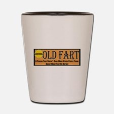 Old Fart Motto Shot Glass
