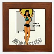 New Mexico Pinup Framed Tile