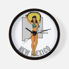 New Mexico Pinup Wall Clock
