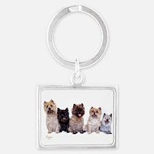Cairn Terriers Landscape Keychain