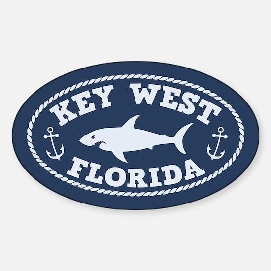 Sharking Key West Sticker (Oval)