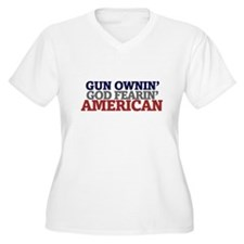 Gun owning GOD fearing american Plus Size T-Shirt