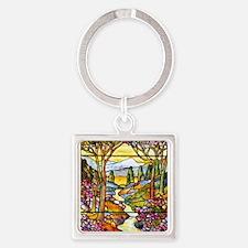 Tiffany Landscape Window Keychains