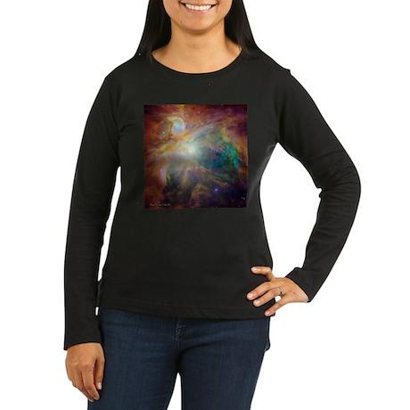 Orion Nebula Women's Long Sleeve Dark T-Shirt