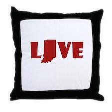 LOVE indiana Throw Pillow