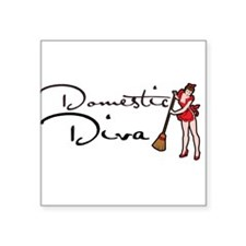 "Domestic DIVA Square Sticker 3"" x 3"""