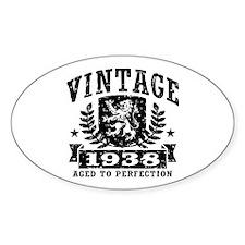 Vintage 1938 Decal