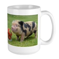 Micro pig with strawberries Mug