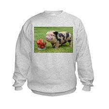 Micro pig with strawberries Sweatshirt