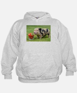 Micro pig with strawberries Hoody