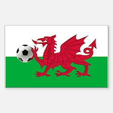 Welsh Football Flag Decal
